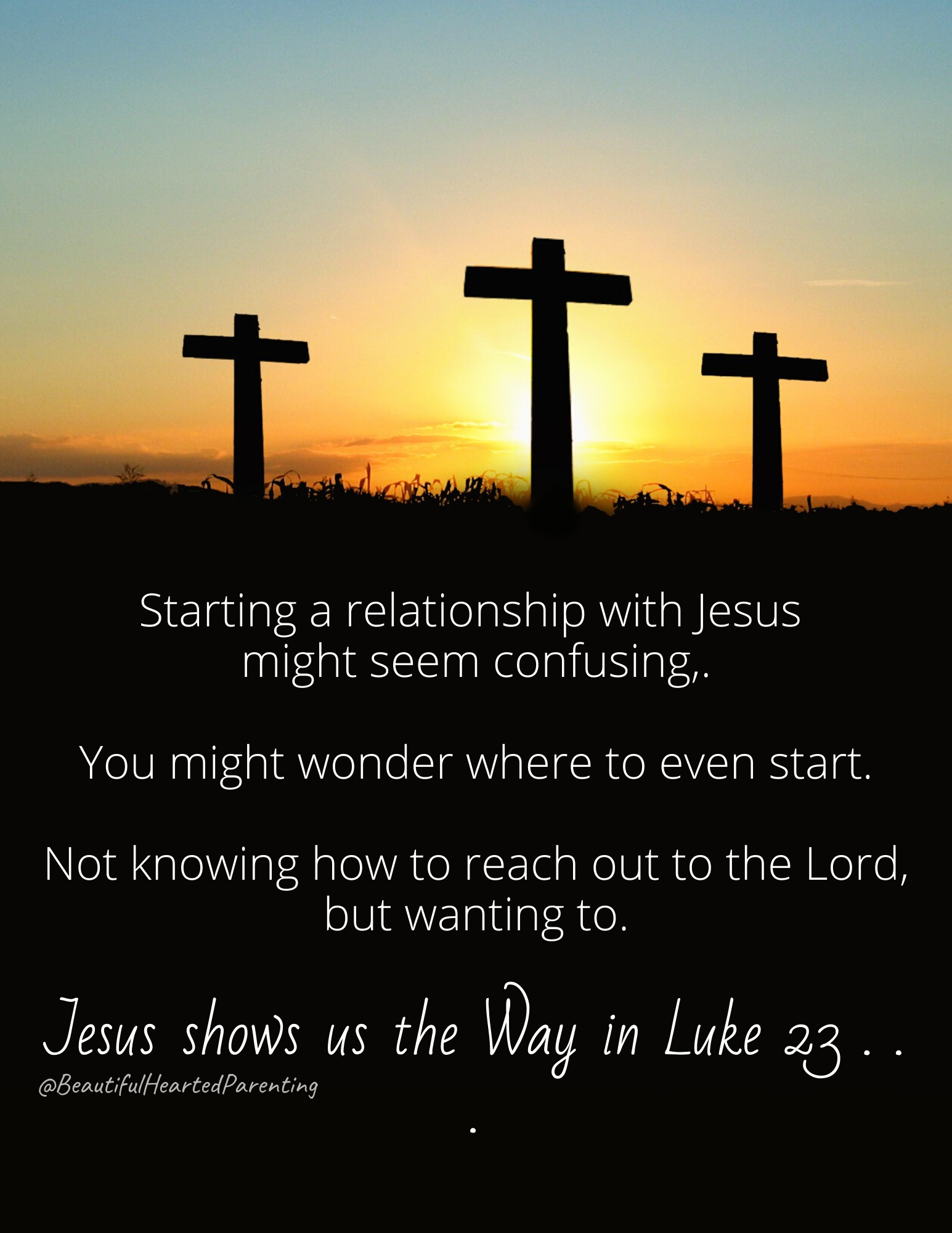 Are you feeling hindered in starting a relationship with Jesus? Wondering where to even start? Not knowing how to reach out to him? Thinking it's too confusing to begin? When Jesus was on the cross, a criminal-2
